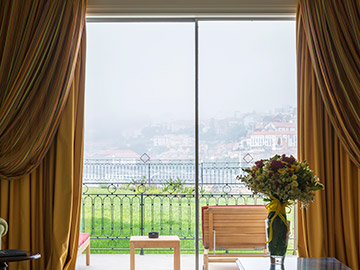 Private terrace in the Douro Suite at The Yeatman, Porto