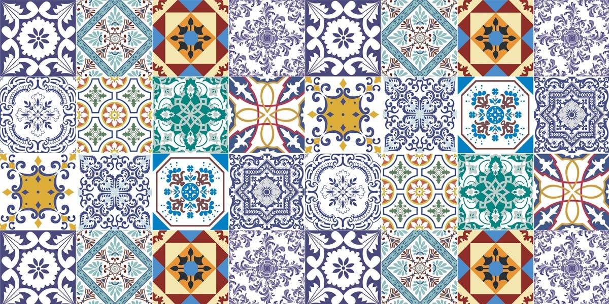 Portuguese azulejos - Papel para azulejos de bano ...