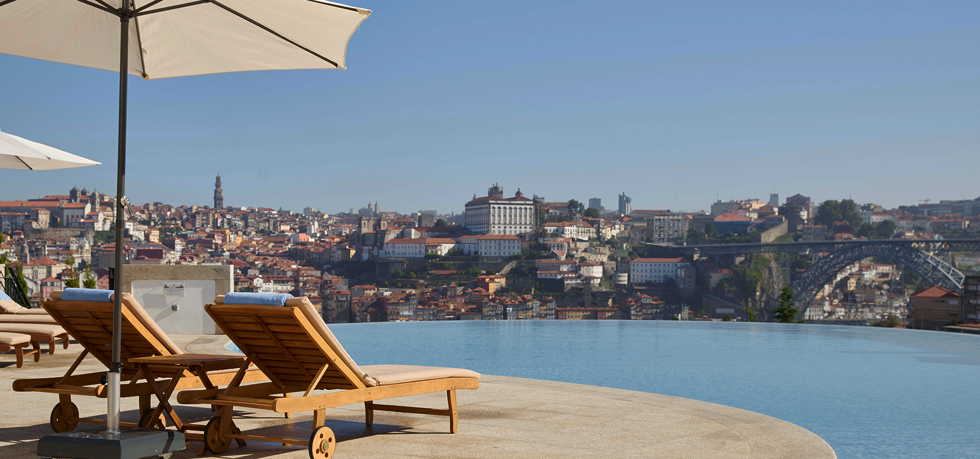 View of Porto, Portugal from The Yeatman