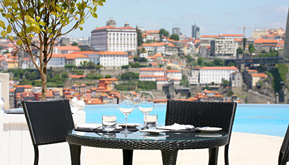 Lunch at The Yeatman Pool, Porto